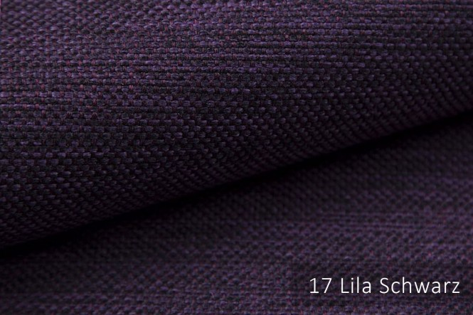 MUDAU - Grob gewebter Möbelstoff - 17 Lila Schwarz