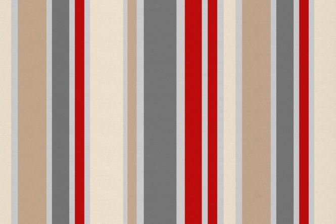 OXFORD 210D - D111 Streifen Rot/Beige/Grau