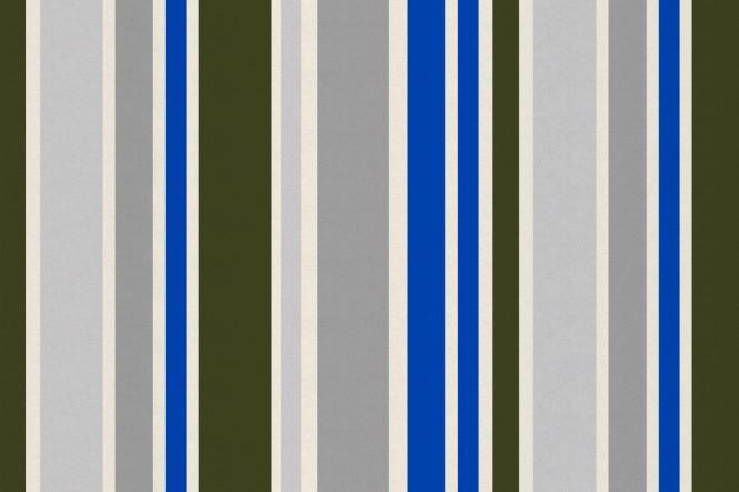 OXFORD 210D - D118 Streifen Blau/Khaki/Grau
