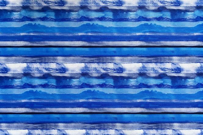 OXFORD 210D - D307 Aquarell Streifen Blau