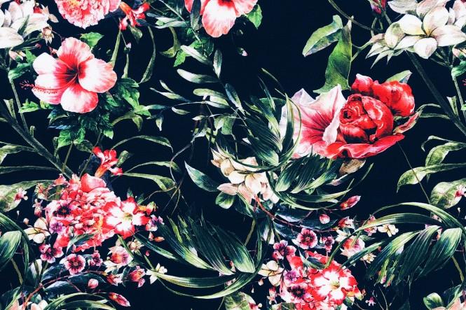 OXFORD 210D - D166 Romantic Flowers