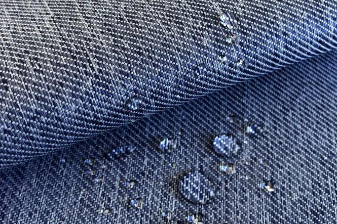 OXFORD 350D - Wasserabweisender Polyesterstoff - 21 Jeans Blau