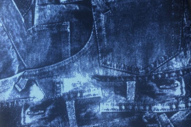 OXFORD 600D - D45 Jeans Royalblau