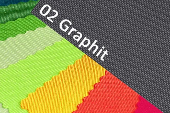 OXFORD BIG Polyester 600D Stoff | RESTPOSTEN - 02 Graphit