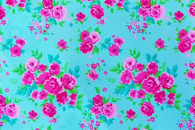 OXFORD 210D - D13 Rosen Hellblau Pink