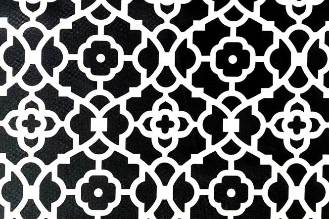 OXFORD 210D - D137 Mosaic Schwarz Weiss