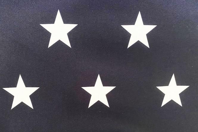OXFORD 210D - D147 Sterne Navy Weiß