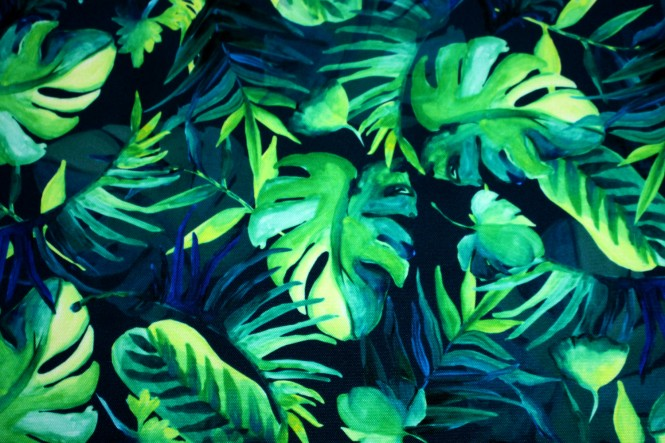 OXFORD 210D - D30 Tropic Blätter Palmen