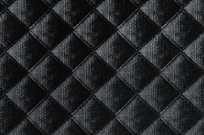 OXFORD 210D - D68 Raute Schwarz Anthrazit
