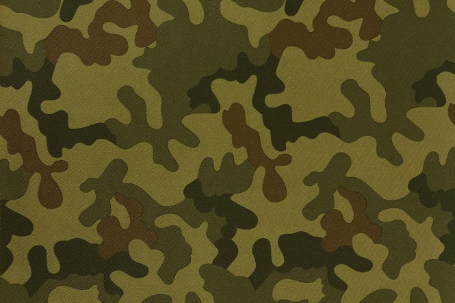 OXFORD 600D - D2 Camouflage Grün Dunkel