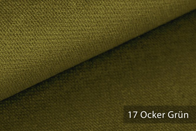 PASSAU - Samtweicher Möbelstoff - 17 Ocker Grün
