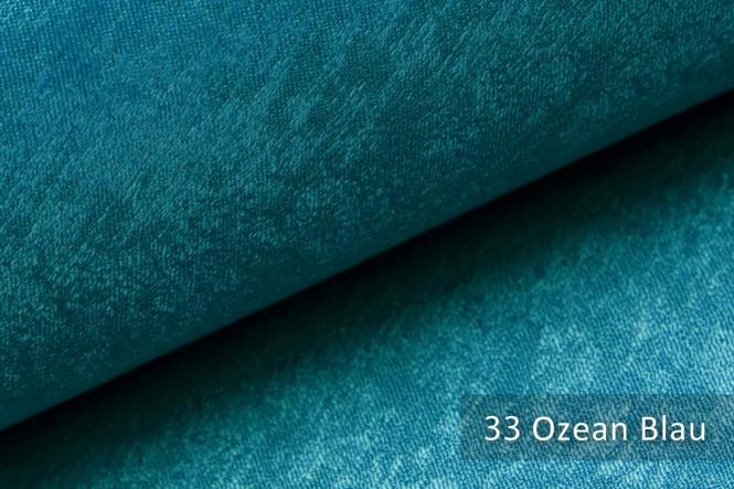 PLATIN - Glänzender Möbelstoff - 33 Ozean Blau