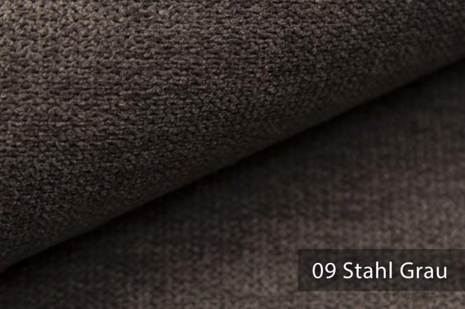 RICKERT - Velours Möbelstoff - 09 Stahl Grau