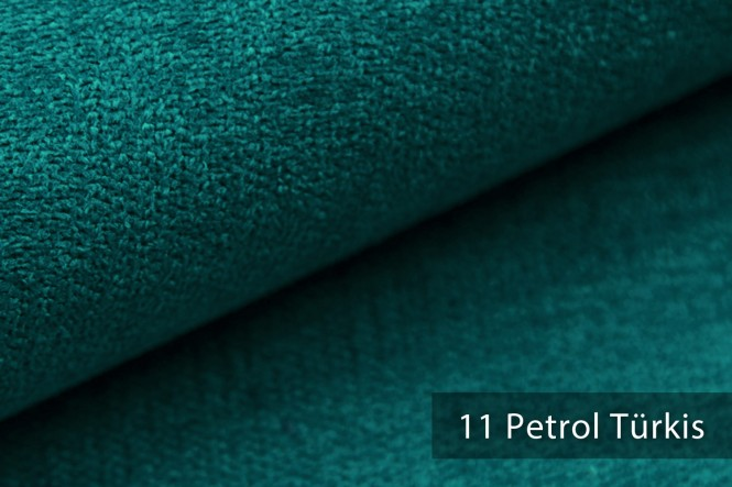 RICKERT - Velours Möbelstoff - 11 Petrol Türkis