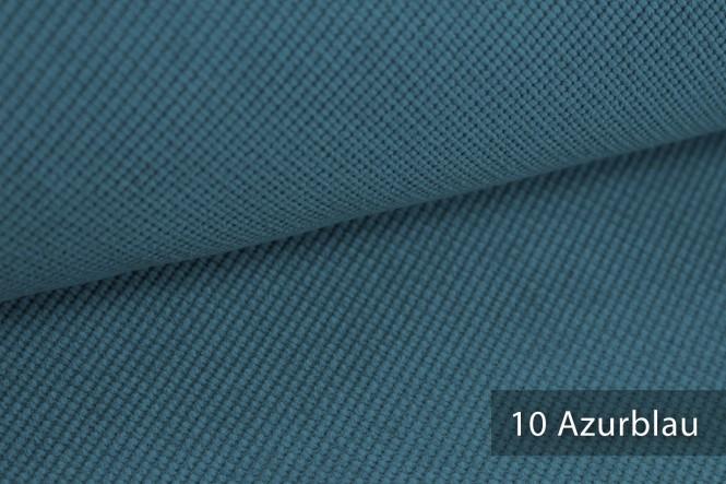 SAVERO - Velours Möbelstoff - 10 Azurblau