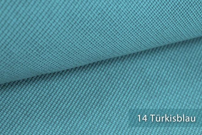 SAVERO - Velours Möbelstoff - 14 Türkisblau