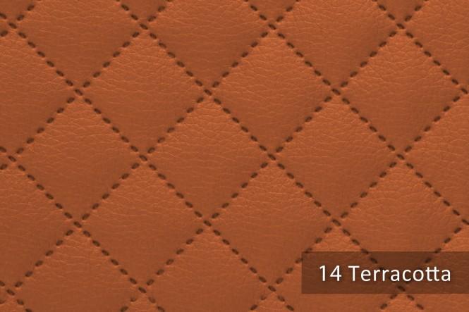 SOLTAU - Gestepptes Kunstleder - 14 Terracotta