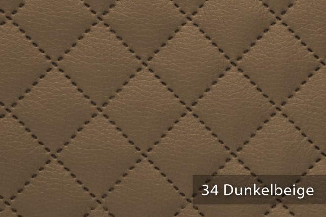 novely® MUSTERSTÜCKE - Möbelstoffe Kunstleder - SOLTAU gesteppt | G-SOL - 34 Dunkelbeige