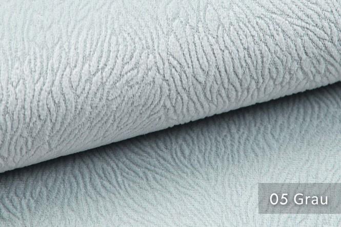 TILDA - Velours Möbelstoff - 05 Grau