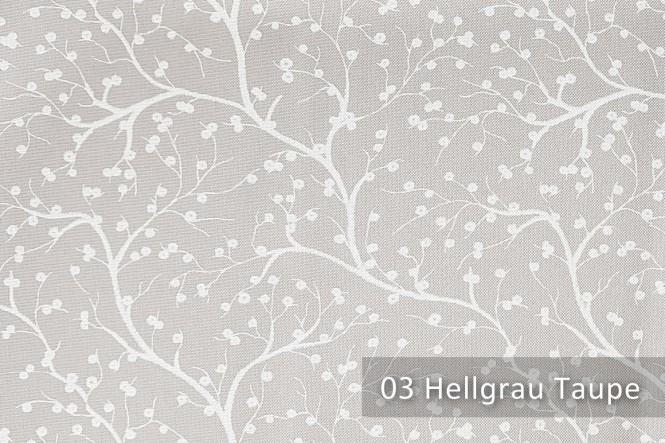 HANAU TWIG - Feiner Polsterstoff - 03 Hellgrau Taupe