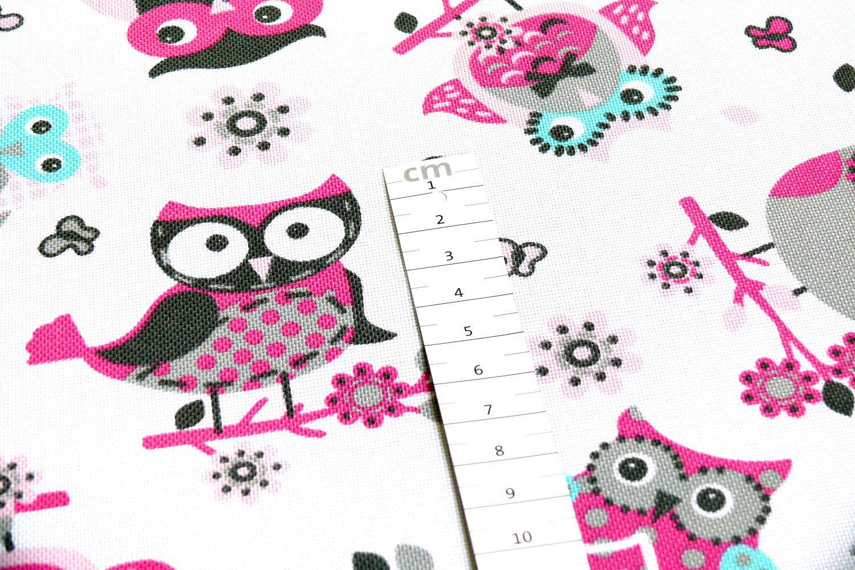 novely oxford 210d polyester stoff pu eule wei pink novely. Black Bedroom Furniture Sets. Home Design Ideas